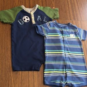 Bundle of Two Rompers in gently used condition.